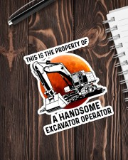 Sticker - Excavator - This Is A Property Sticker - Single (Vertical) aos-sticker-single-vertical-lifestyle-front-05