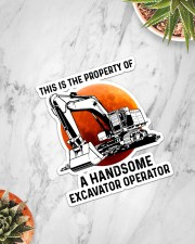 Sticker - Excavator - This Is A Property Sticker - Single (Vertical) aos-sticker-single-vertical-lifestyle-front-06