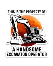 Sticker - Excavator - This Is A Property Sticker - Single (Vertical) front