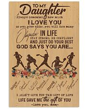To My Daughter God Says You Are - Softball 11x17 Poster front