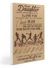 To My Daughter God Says You Are - Softball Gallery Wrapped Canvas Prints tile