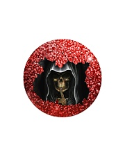 Skull Round Christmas Circle Magnet tile