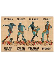 Soccer Be Strong 17x11 Poster front