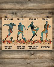 Soccer Be Strong 17x11 Poster poster-landscape-17x11-lifestyle-14