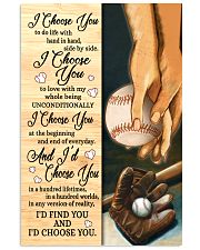 Baseball - I Choose You Poster 11x17 Poster front