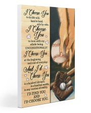 Baseball - I Choose You Poster Gallery Wrapped Canvas Prints tile