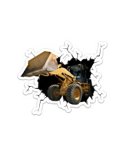 Bulldozer Crack Sticker - Single (Horizontal) front