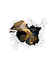 Bulldozer Crack Sticker tile