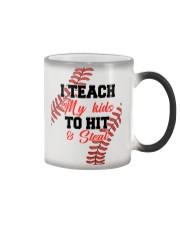 Baseball I Teach My Kid Color Changing Mug tile