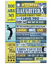 Volleyball To My Daughter 11x17 Poster front