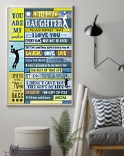 Volleyball To My Daughter 11x17 Poster lifestyle-poster-1