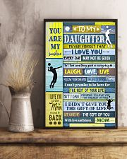 Volleyball To My Daughter 11x17 Poster lifestyle-poster-3