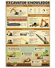 Excavator Knowledge  11x17 Poster front