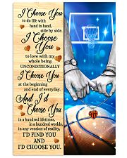 Basketball Couple I Choose You 11x17 Poster front
