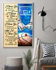 Basketball Couple I Choose You 11x17 Poster lifestyle-poster-1