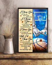 Basketball Couple I Choose You 11x17 Poster lifestyle-poster-3