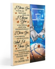 Basketball Couple I Choose You 20x30 Gallery Wrapped Canvas Prints thumbnail