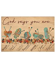 Knitting God Say You Are 17x11 Poster front
