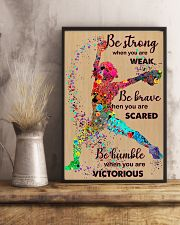 Softball - Be Strong 15 11x17 Poster lifestyle-poster-3