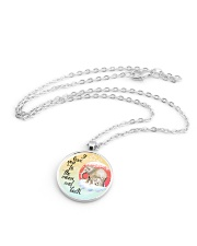 Elephant To The Moon And Back Necklace Metallic Circle Necklace aos-necklace-circle-metallic-lifestyle-03