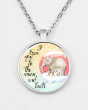 Elephant To The Moon And Back Necklace Metallic Circle Necklace aos-necklace-circle-metallic-lifestyle-07