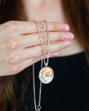 Elephant To The Moon And Back Necklace Metallic Circle Necklace aos-necklace-circle-metallic-lifestyle-09