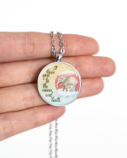 Elephant To The Moon And Back Necklace Metallic Circle Necklace aos-necklace-circle-metallic-lifestyle-10