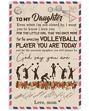 To My Daughter Volleyball Player Vertical Poster tile