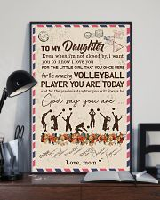To My Daughter Volleyball Player 11x17 Poster lifestyle-poster-2