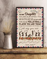 To My Daughter Volleyball Player 11x17 Poster lifestyle-poster-3