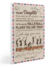 To My Daughter Volleyball Player Gallery Wrapped Canvas Prints tile