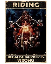 Motorcycle Because Murder Is Wrong 11x17 Poster front