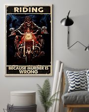 Motorcycle Because Murder Is Wrong 11x17 Poster lifestyle-poster-1