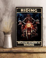 Motorcycle Because Murder Is Wrong 11x17 Poster lifestyle-poster-3