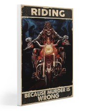 Motorcycle Because Murder Is Wrong 20x30 Gallery Wrapped Canvas Prints thumbnail