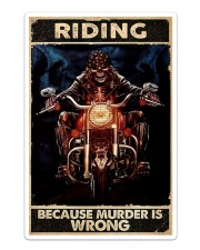 Motorcycle Because Murder Is Wrong Sticker - Single (Vertical) thumbnail