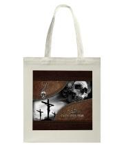 Skull Faith Over Fear Tote Bag thumbnail