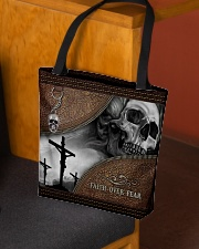 Skull Faith Over Fear All-over Tote aos-all-over-tote-lifestyle-front-02