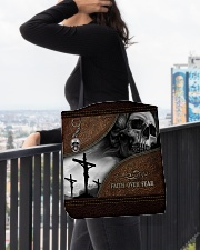 Skull Faith Over Fear All-over Tote aos-all-over-tote-lifestyle-front-05