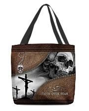 Skull Faith Over Fear All-over Tote back