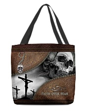 Skull Faith Over Fear All-over Tote front