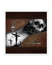 Skull Faith Over Fear Sticker - Single (Vertical) thumbnail