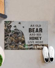 """Custom Camo Old Bear And This Honey Doormat Doormat 22.5"""" x 15""""  aos-doormat-22-5x15-lifestyle-front-07"""