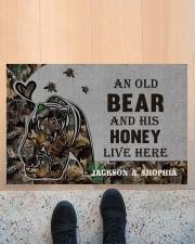 """Custom Camo Old Bear And This Honey Doormat Doormat 22.5"""" x 15""""  aos-doormat-22-5x15-lifestyle-front-10"""