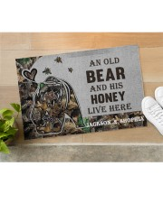 """Custom Camo Old Bear And This Honey Doormat Doormat 22.5"""" x 15""""  aos-doormat-22-5x15-lifestyle-front-11"""