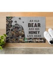 """Custom Camo Old Bear And This Honey Doormat Doormat 22.5"""" x 15""""  aos-doormat-22-5x15-lifestyle-front-12"""