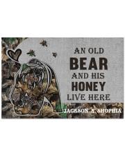 """Custom Camo Old Bear And This Honey Doormat Doormat 22.5"""" x 15""""  front"""
