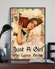 Book - A Girl Who Loves Books 11x17 Poster lifestyle-poster-2
