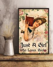 Book - A Girl Who Loves Books 11x17 Poster lifestyle-poster-3