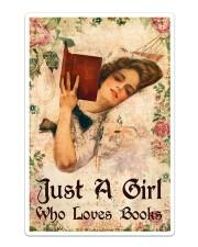 Book - A Girl Who Loves Books Sticker tile